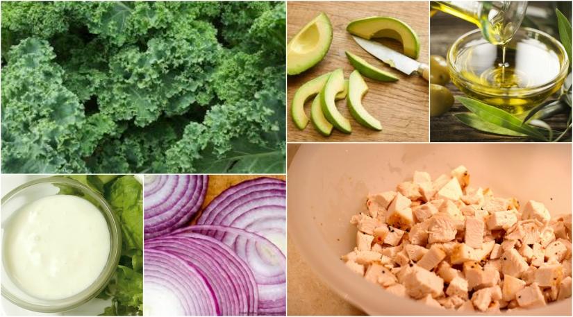 Eat Well Wednesdays! Grilled Chicken Kale Caesar Salad alaNikki
